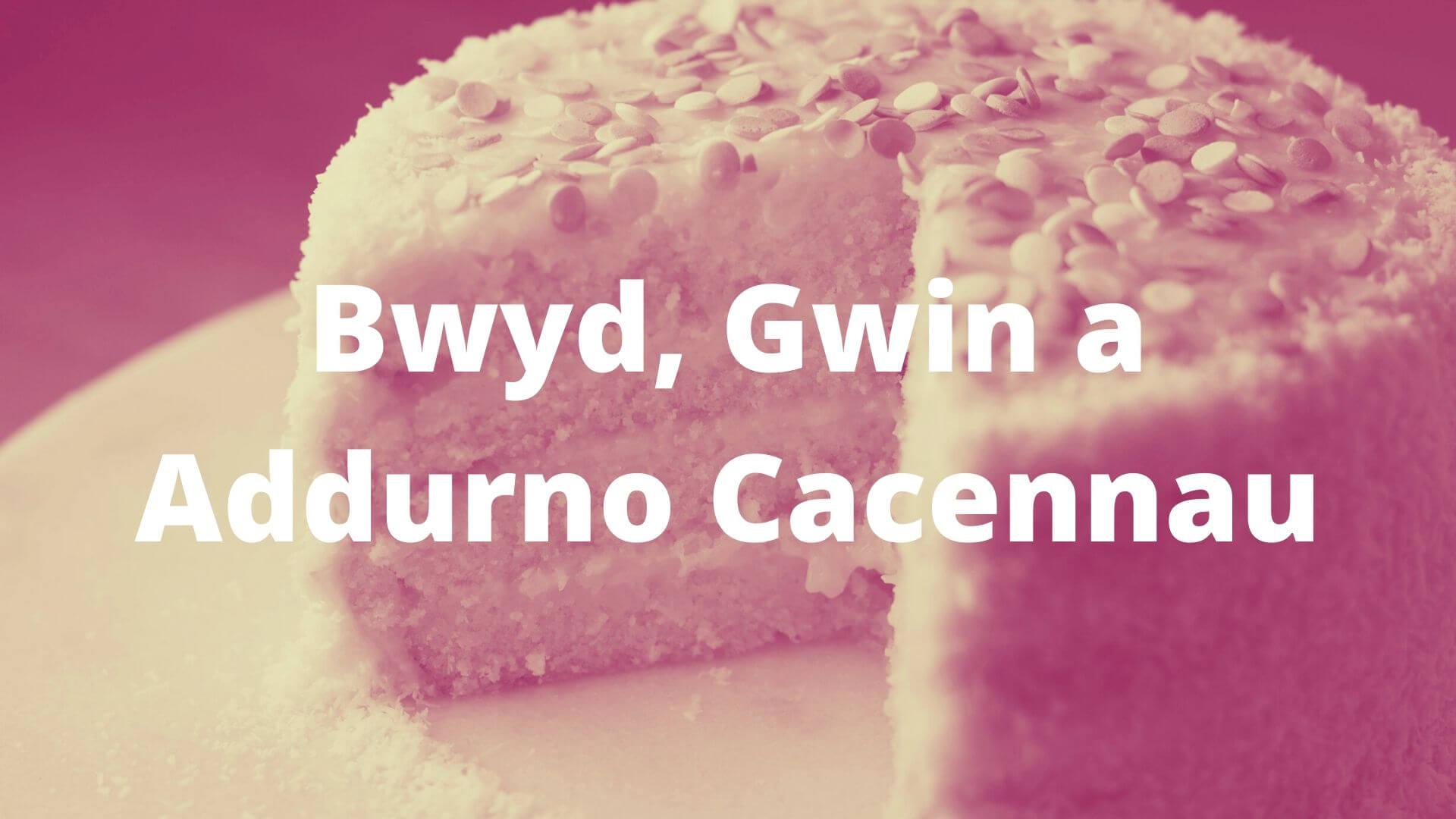 bwyd, gwin a addurno cacennau banner