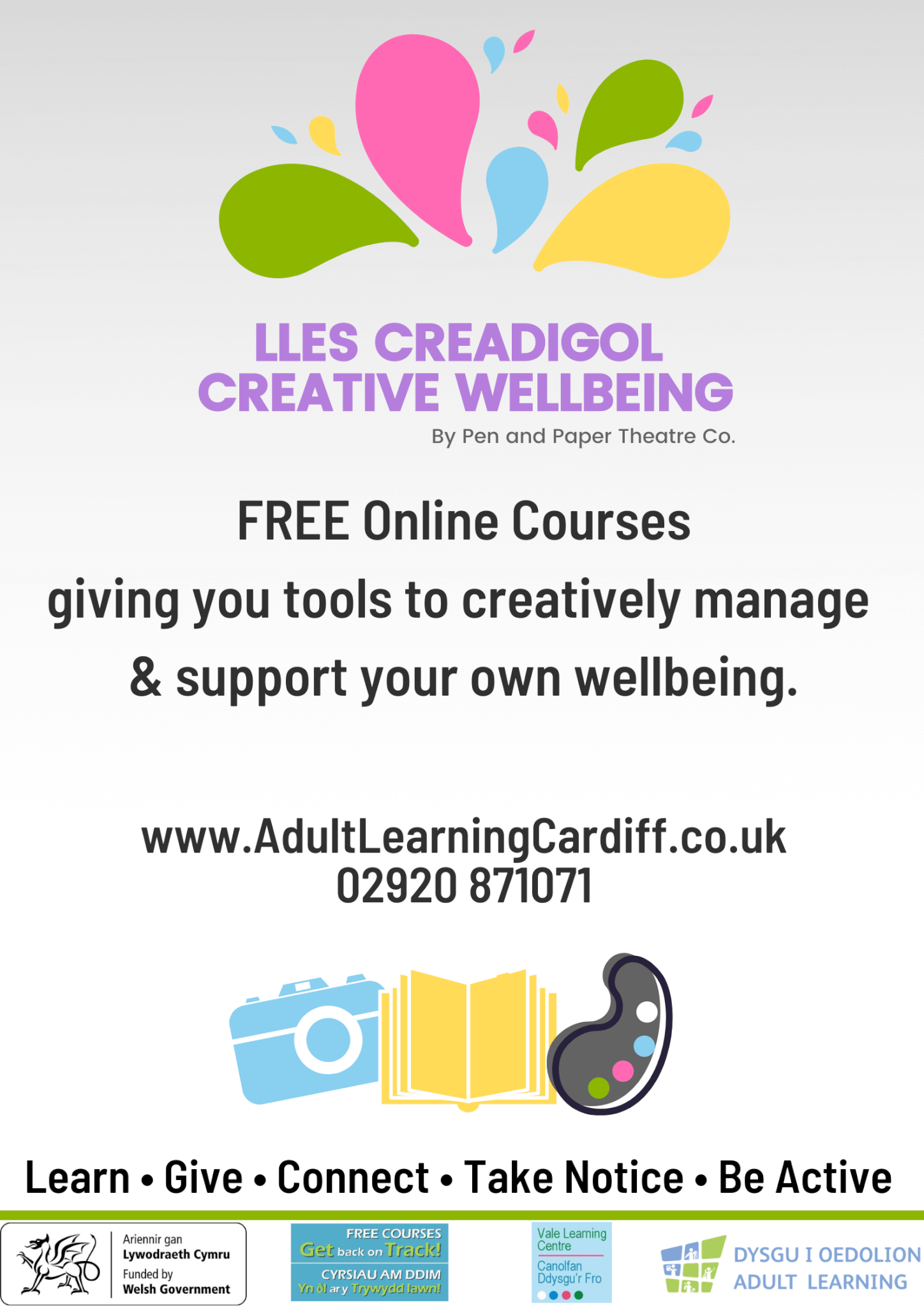 Creative wellbeing poster