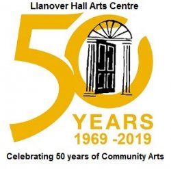 50 years small with words logo