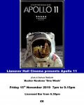 Photo of poster advertising film night at Llanover Hall