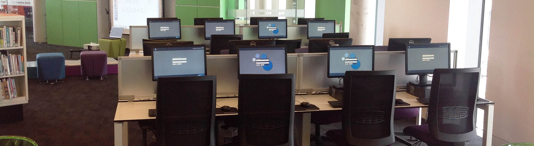 Photo of a computer classroom at Central Library