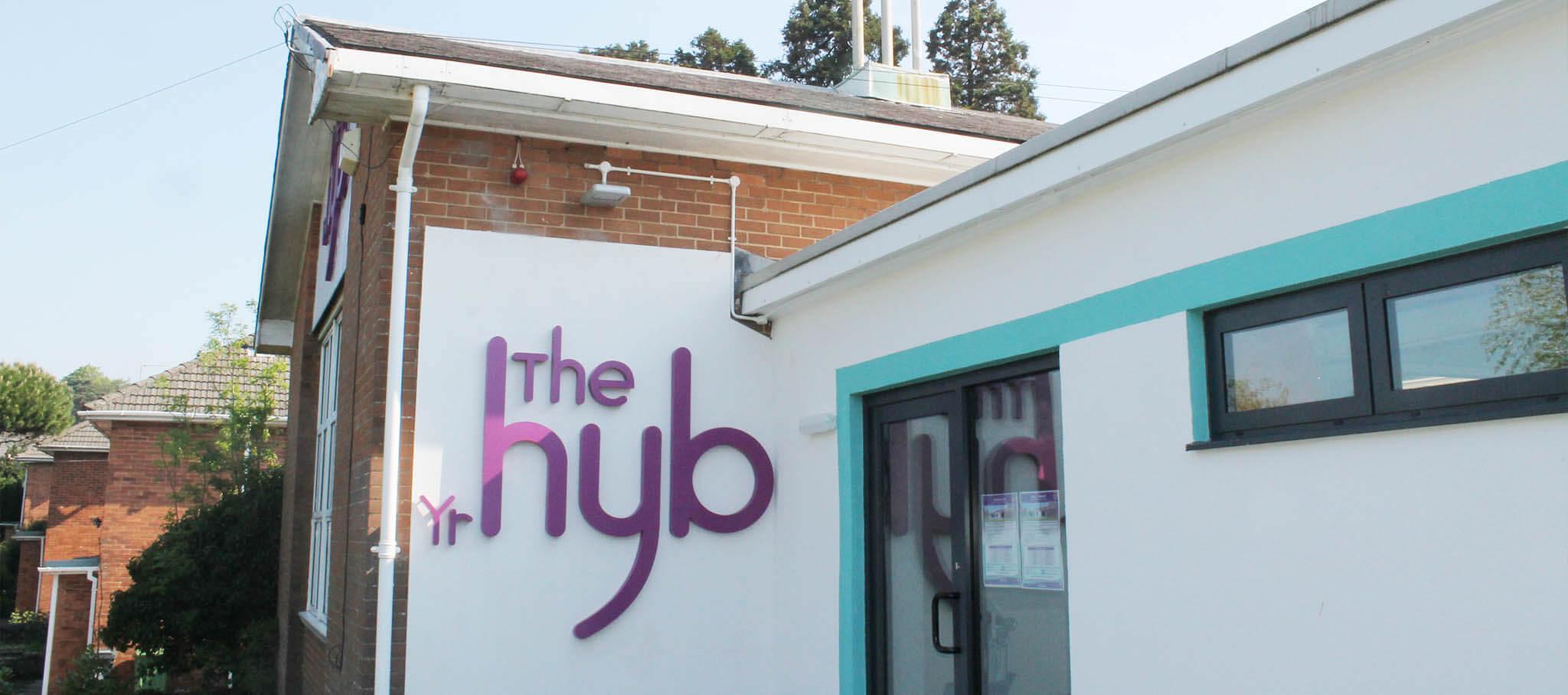 The outside of Fairwater Hub