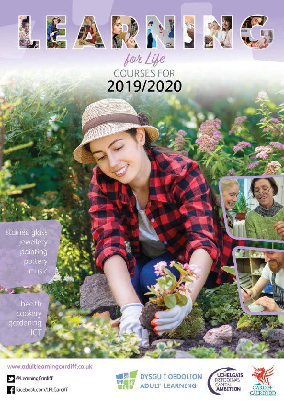 Cover of the learning for life brochure