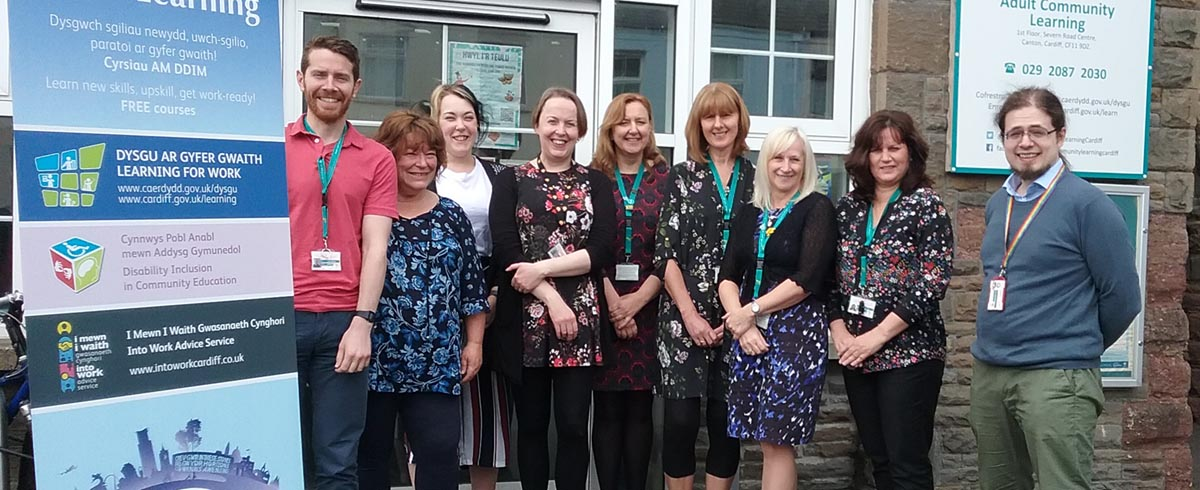 Photo of the adult learning team