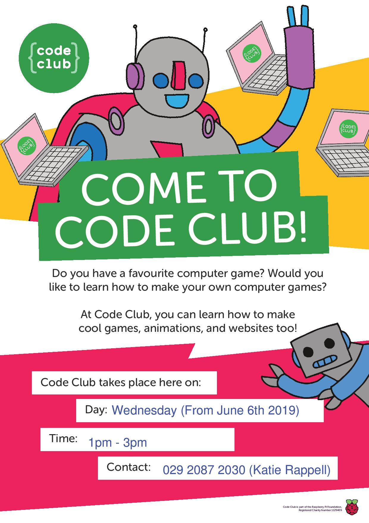 Code club poster