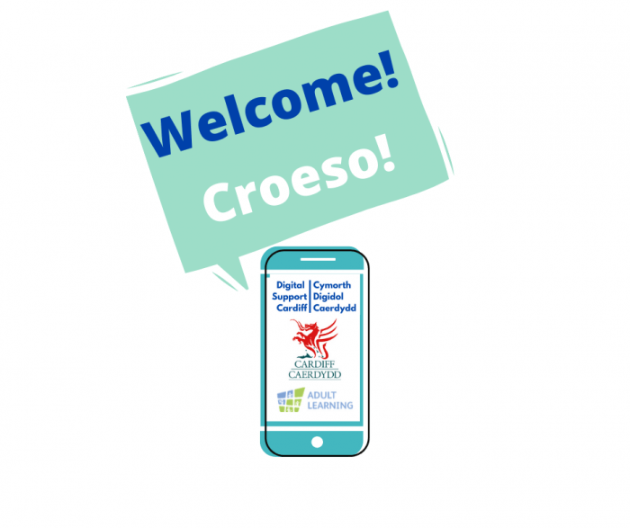 Welcome! Croeso! Digital Support logo